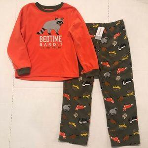 NEW Carters Boys Size 7 Fleece Pajama Christmas